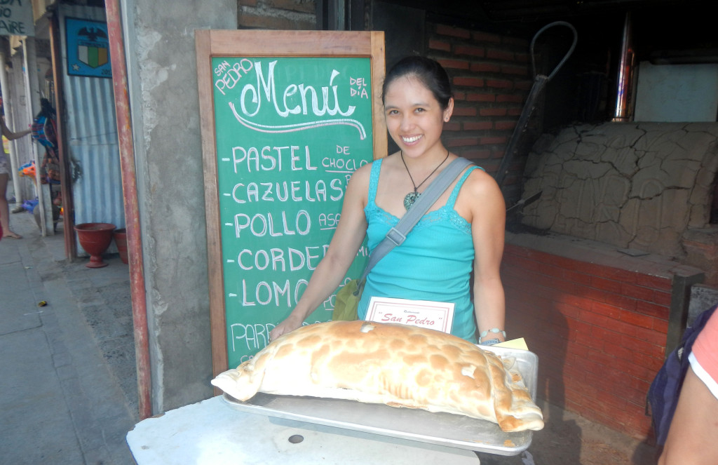 For display purposes only...however they did sell empanadas that were 1 kilo!