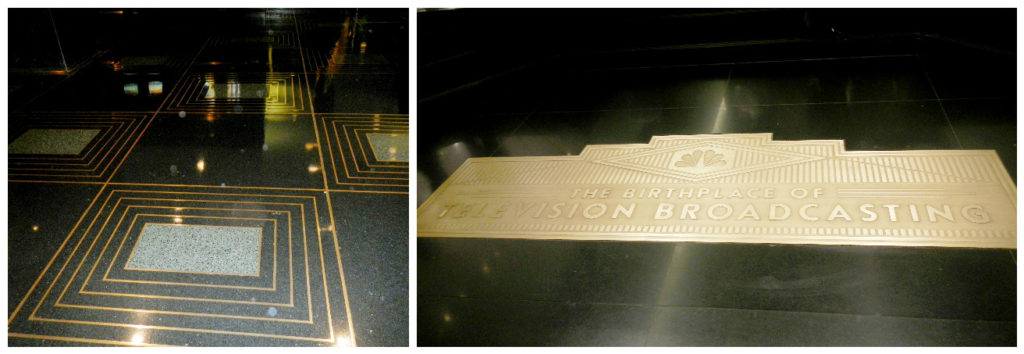 Even the floor exhibits the detail and art deco theme that went into all the original Rockefeller buildings. The brass inlay shows the precision of the machine age.